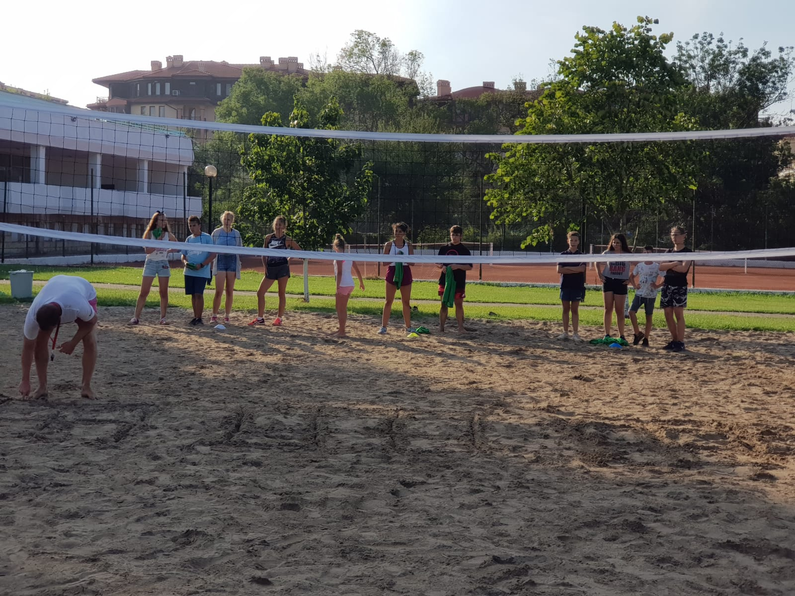 Z camp, day 12 - Afternoon Games - sandy volleyball court