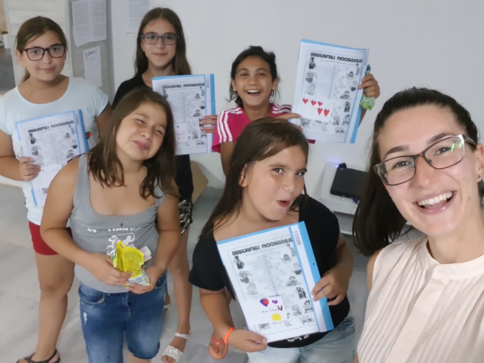 Z camp, day 4 - girls from the English class