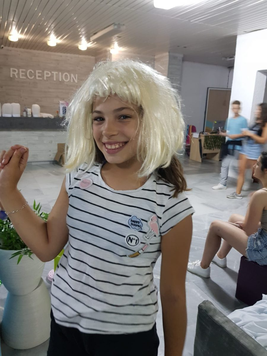 Z camp, day 4 - girl with a blond wig