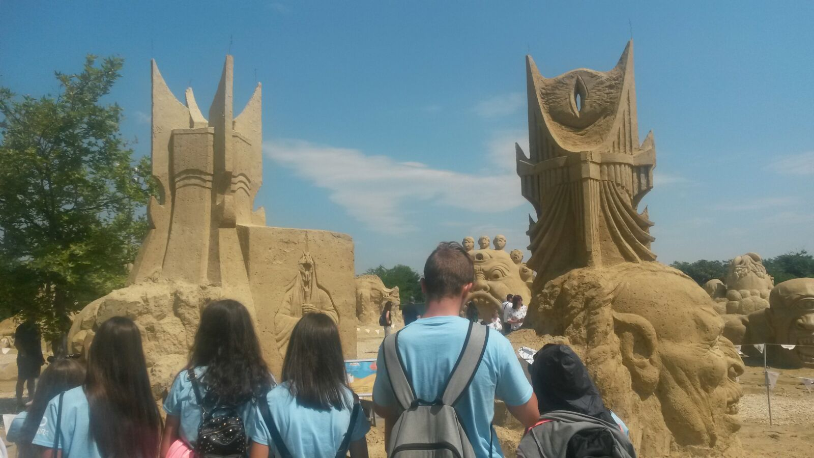 Z camp, day 4 - excursion for one day, many sand figures, Bourgas