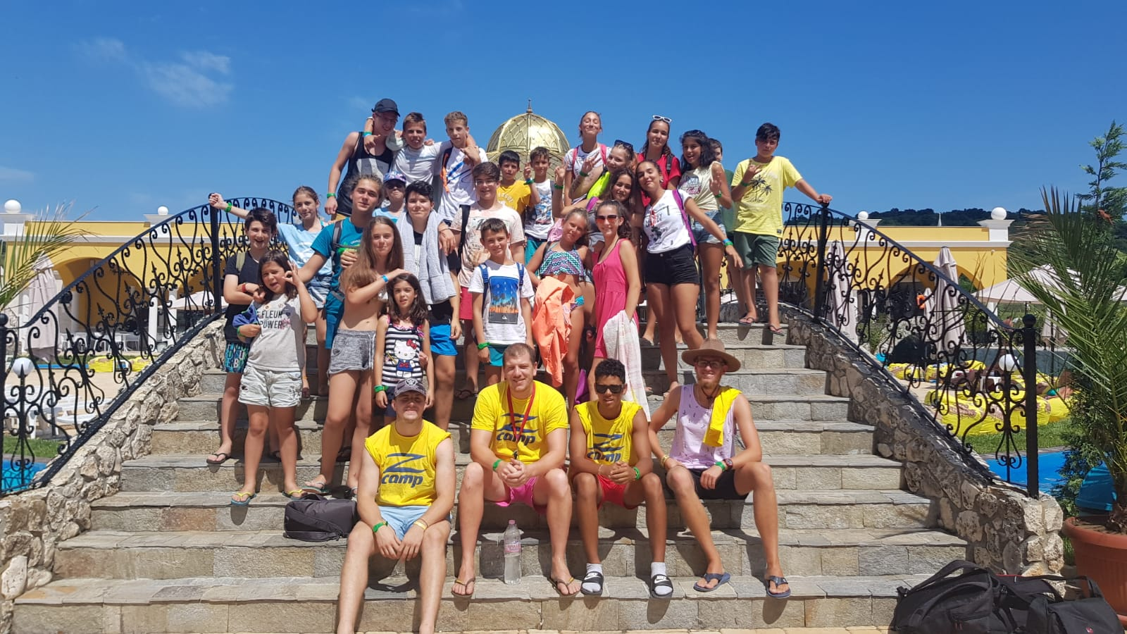 Z camp, day 11 - aquapark, photo of the whole group