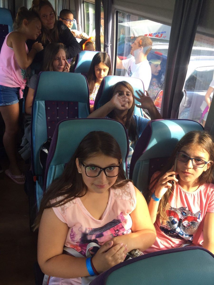 Z camp, day 6 - children are already on the departure bus