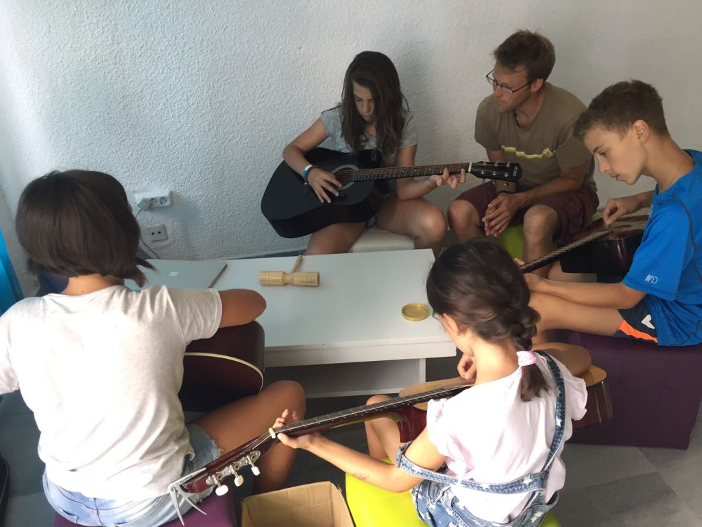 Z camp, day 8 - Music Workshop for Children - Guitar