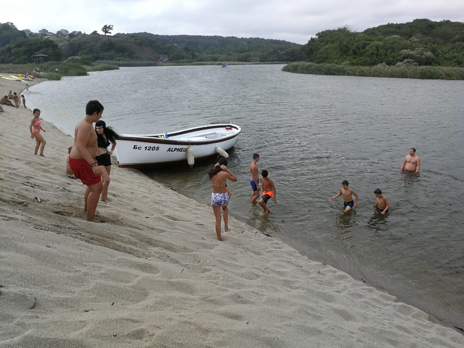 Z camp, Day 17 - Veleka river trip - boys in the waters of Veleka