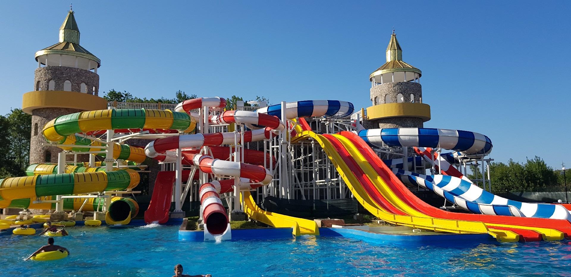 summer language Z camp seaside, Day 36 - Neptune aqua park, combined water slide